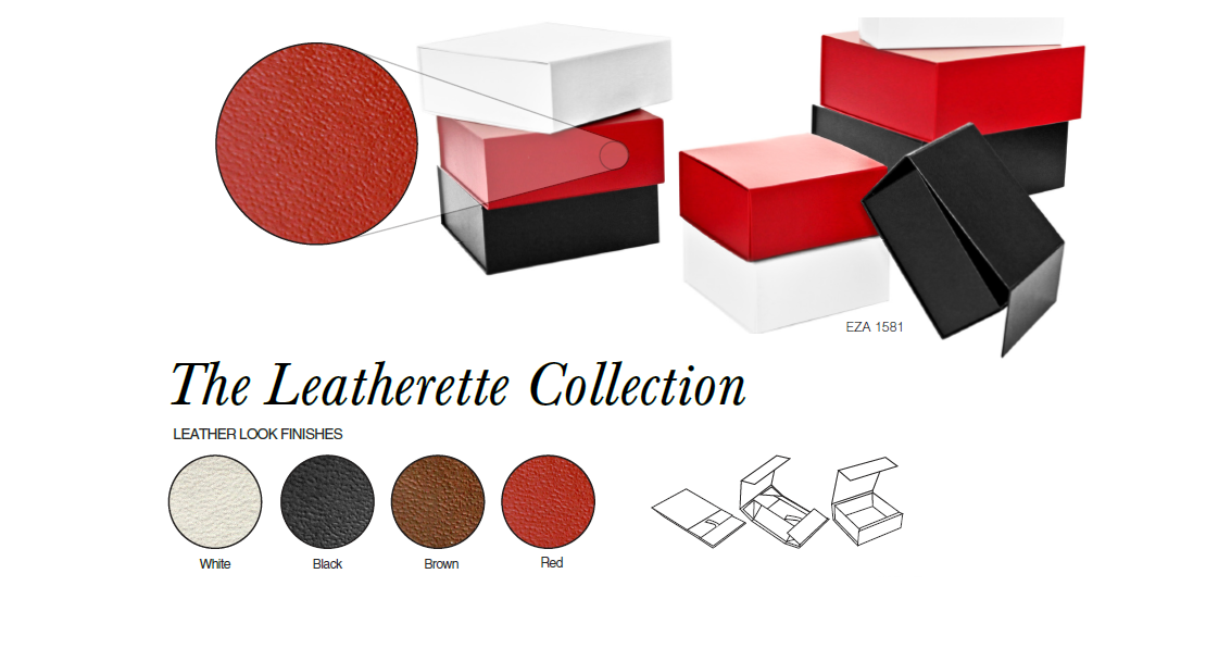 Leatherette collapsible boxes for highend gift products