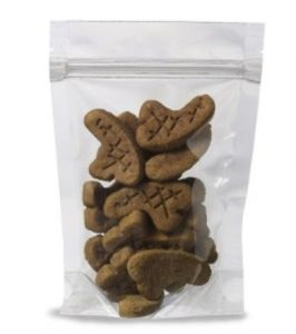 Saran coated stand up zipper pouches for candy, tea, spices and more